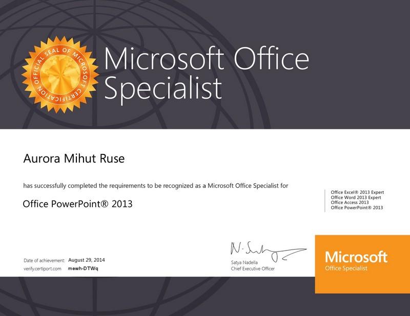 Mihut Ruse Aurora - Powerpoint