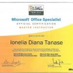 Tanase Diana - MOS Master Instructor