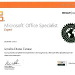 Tanase Diana - MOS Expert Excel 2010